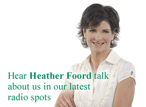 Hear Heather Foord talk about us in our latest radio spots.